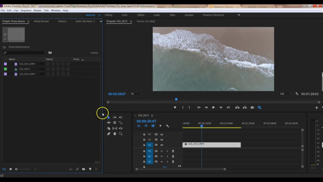 Guide on how to edit 4k H265 Phantom 4 Pro video 100Mbps on