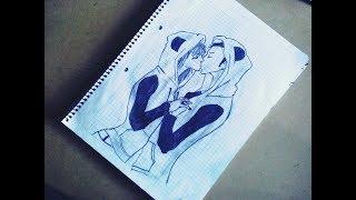 Feliz Dia del Amor y la Amistad  D (Dibujando dos personas besandose con ropa de panda)  [AMOR]XD