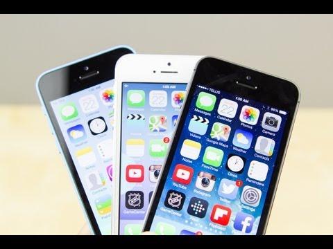 iPhone 5S vs 5C vs 5
