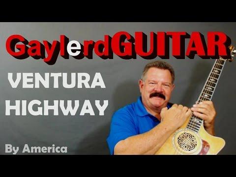 VENTURA HIGHWAY by America INTRO RIFF lesson cover