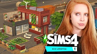 Building stacked ECO containers using LADDERS | The Sims 4: Eco Lifestyle