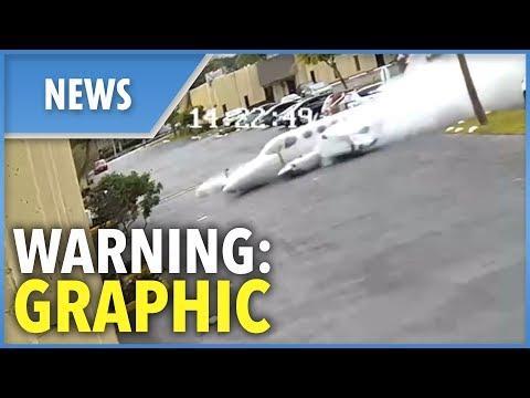 Fort Lauderdale fatal plane crash captured on CCTV