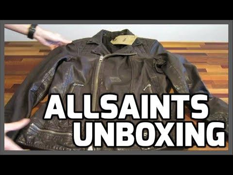 Allsaints Spitalfields Conroy Leather Biker Jacket Color Ink