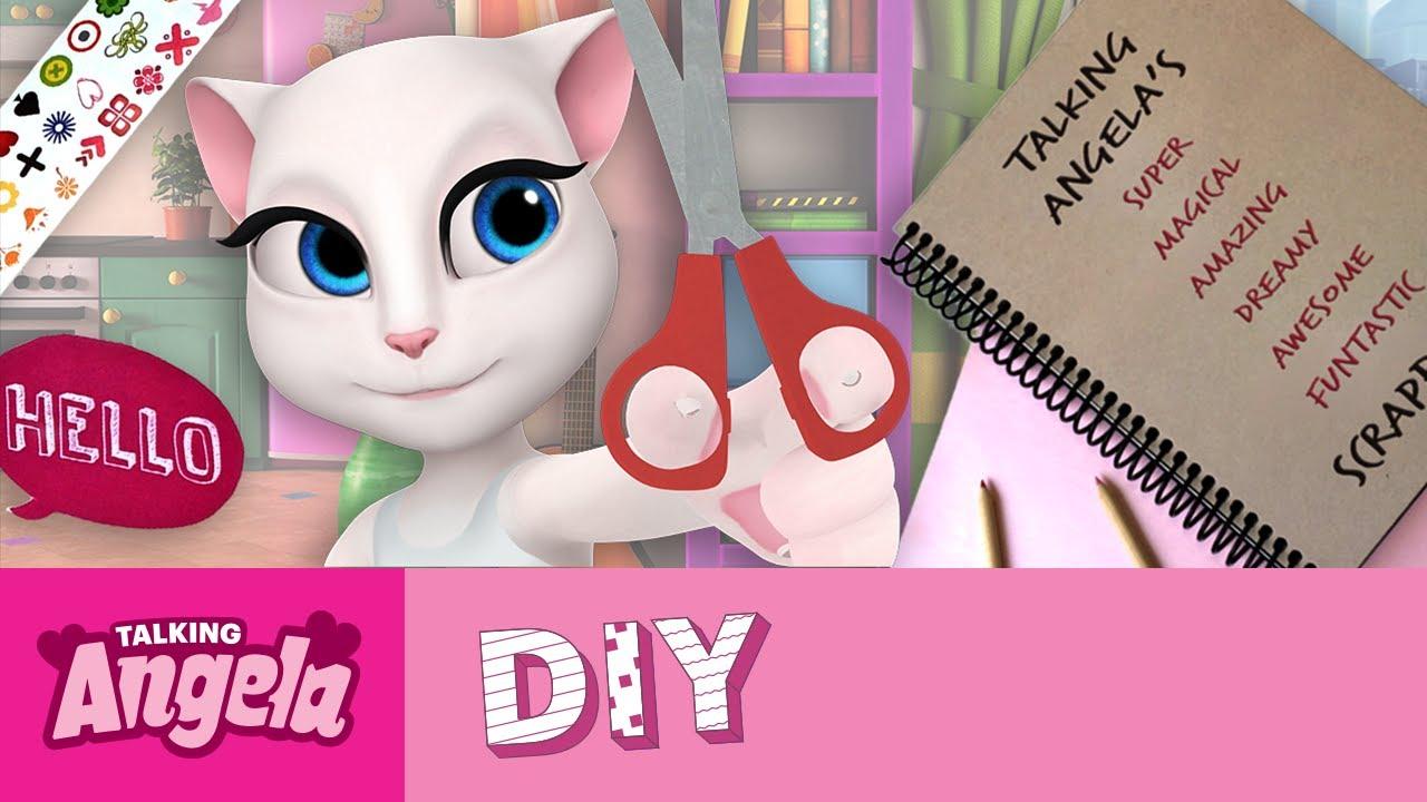 04567bab78208 Talking Angela s DIY - How to Make a Scrapbook - YouTube