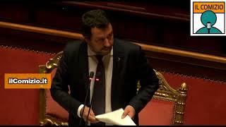 Aquarius, Salvini riferisce in Senato attaccando Francia, Ong e Soros