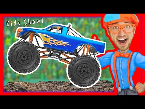 Monster Trucks for Kids with Blippi – Educational Videos for Toddlers | Learn Colors