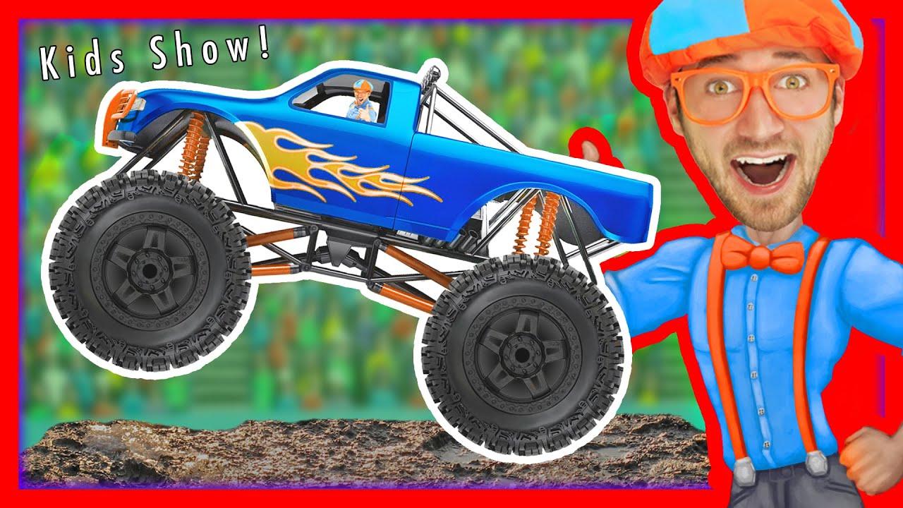 monster trucks for kids with blippi u2013 educational videos for
