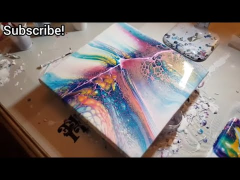Bloom Technique 2 ways and a Swipe! Acrylic Pouring techniques