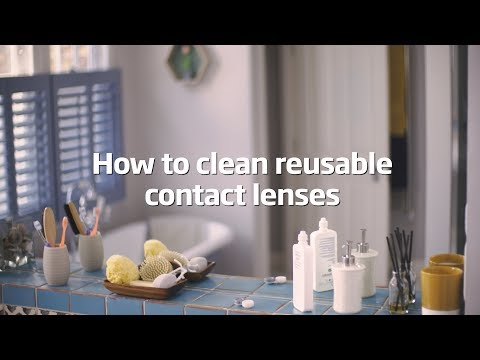 How to clean reusable contact lenses