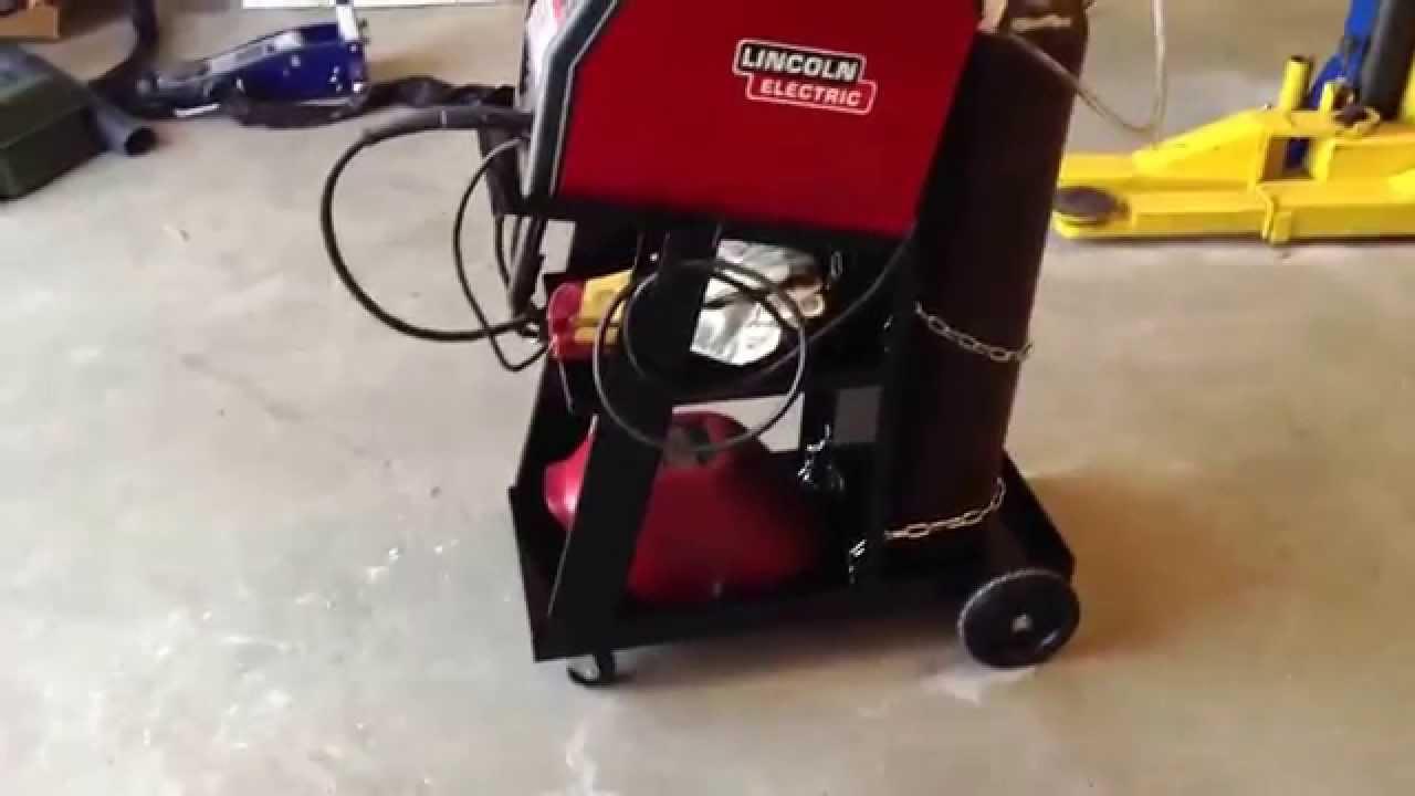 Harbor Freight Welding Cart Lincoln Miller Youtube