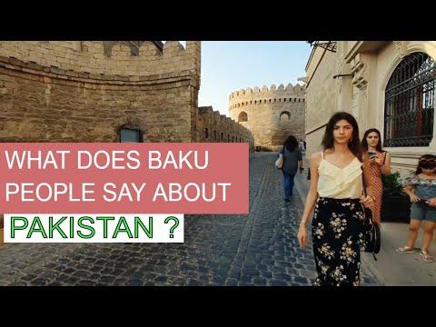 What Does Baku People Say About Pakistan   Old City Baku  