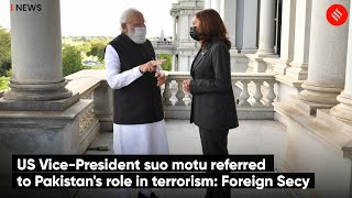 US Vice-President suo motu referred to Pakistan's role in terrorism: Foreign Secy