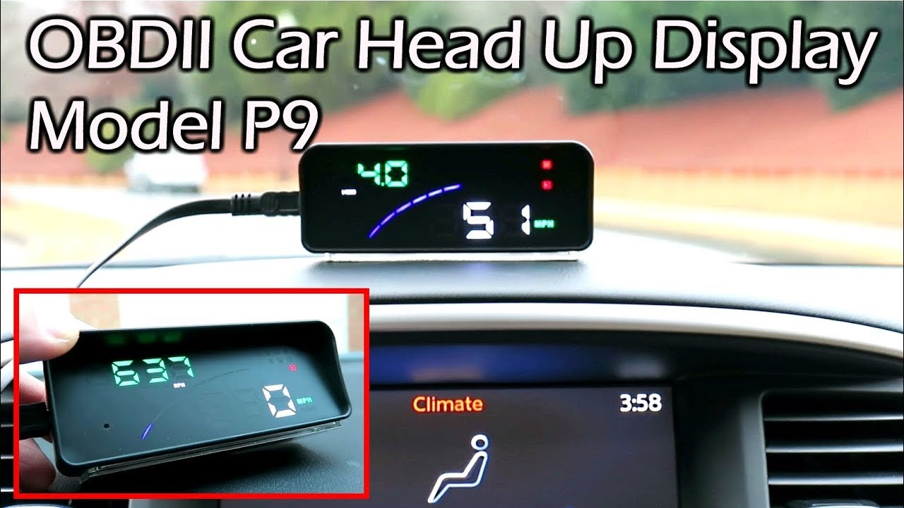 obdii head up display hud model p9 full review youtube. Black Bedroom Furniture Sets. Home Design Ideas