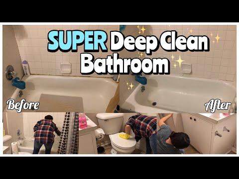 SUPER Deep Clean Bathroom | Cleaning Motivation!!