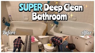 SUPER Deep Clean Bathroom | Cleaning Motivation!!