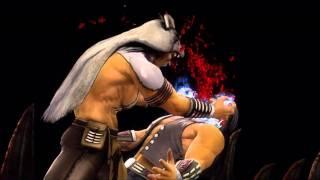 Mortal Kombat 9 Nightwolf Fatality 1, 2, Stage and Babality (HD)