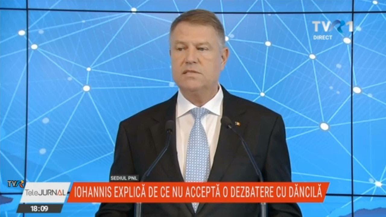 Klaus Iohannis a explicat de ce nu a acceptat o dezbatere cu Viorica Dăncilă