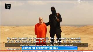 Repeat youtube video Jurnalist american, decapitat în Irak