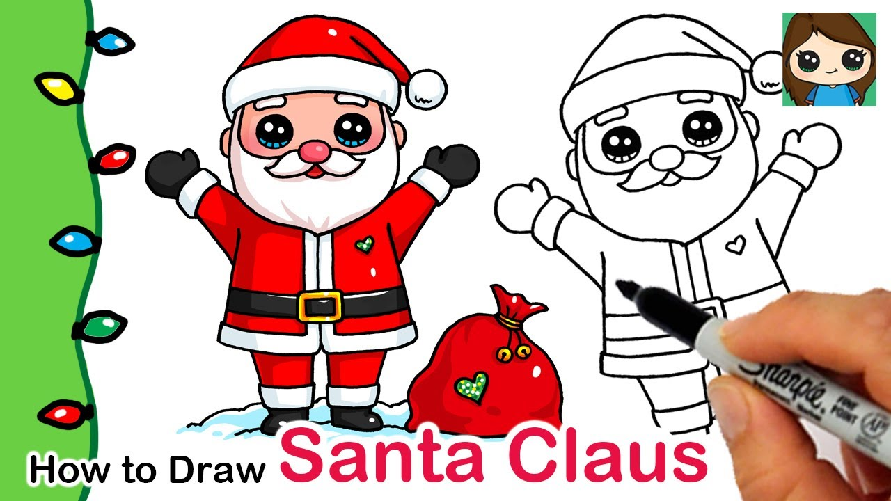 How To Draw Santa Claus Christmas Series 1 Youtube See more ideas about santa cartoon, christmas cartoons, christmas drawing. how to draw santa claus christmas series 1