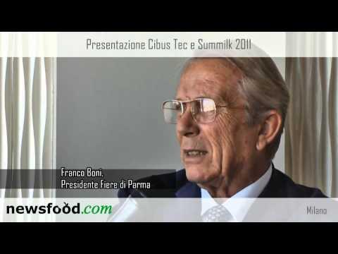 Franco Boni, presidente Fiere di Parma alla presentazione di Cibus Tec e Summilk 2011