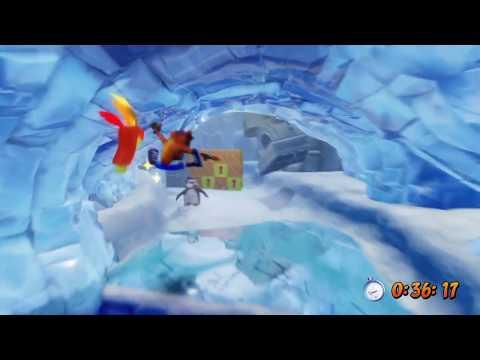 Crash Bandicoot 2: Cortex Strikes Back - Snow Go - Gold Relic (Time Trial)