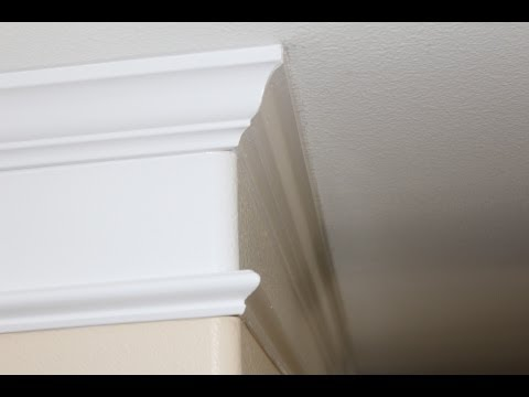 Crown Molding Detail Installation Youtube