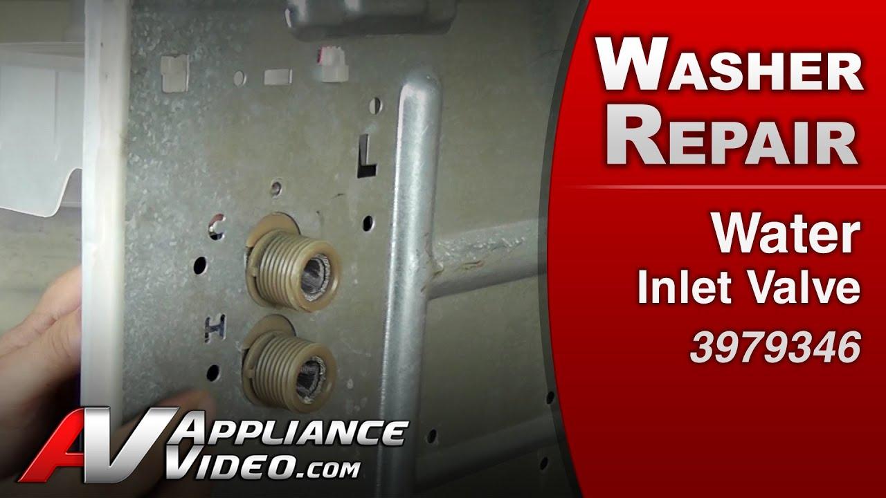 Whirlpool Washer Water Inlet Solenoid Valve Repair Also No