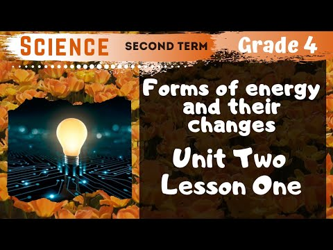 Science | Grade 4 | Unit 2 Lesson 1 - Forms of energy and their changes