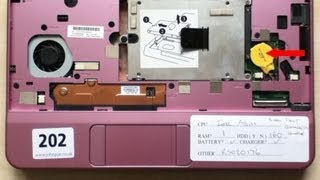 rtc battery replacement procedure on compaq hp mini 110 netbook clear cmos settings video