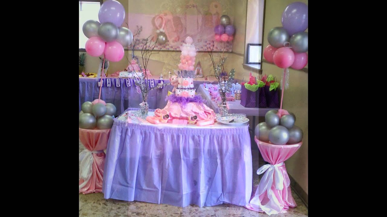 BABY SHOWER PINK AND PURPLE THEME