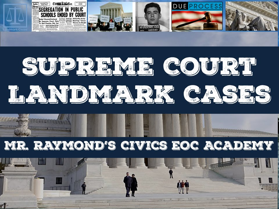 Us Supreme Court Landmark Cases Youtube
