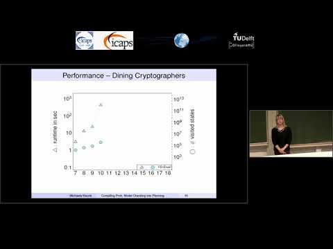 "ICAPS 2018: Michaela Klauck on ""Compiling Probabilistic Model Checking into Probabilistic Planning"""