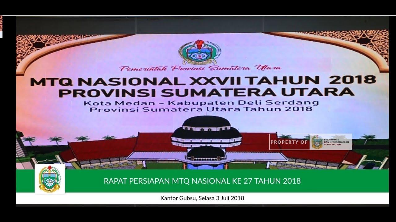 Rapat Persiapan Mtq Nasional Xxvii Tahun