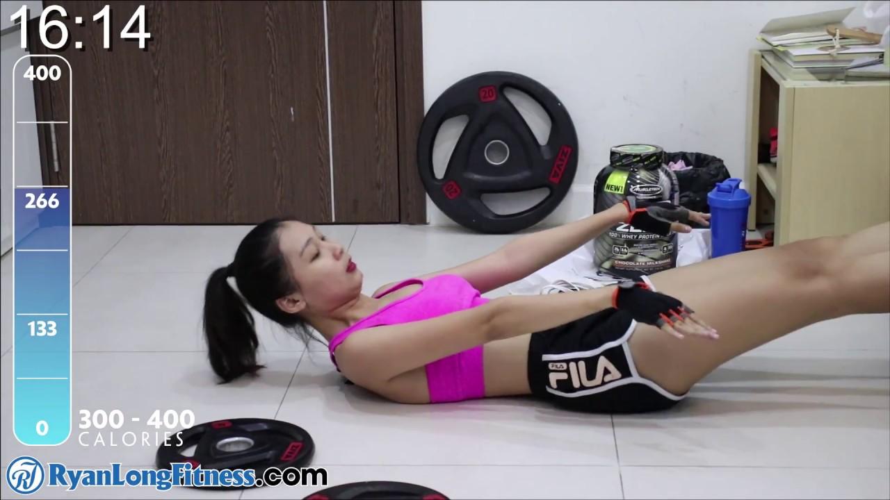 Tập Mông Eo Thon Mình Dây 400 Calories 22 Phút Tại Nhà Cùng Junie – HLV Ryan Long Fitness