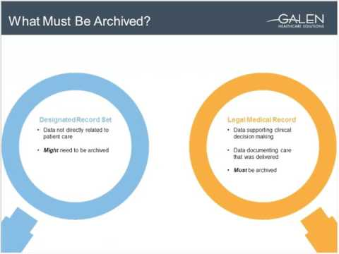 3/8 - Exploring Healthcare Data Archival Strategies (Sponsored by Galen Healthcare Solutions)