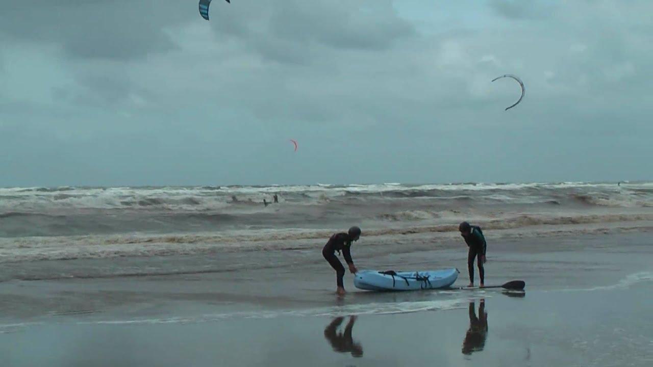 Kitesurfen in Katwijk in 1080p