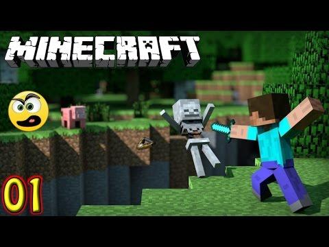 Minecraft Parte 1- Sobrevivendo a Primeira Noite