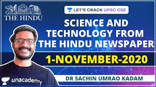 Science and Technology from The Hindu Newspaper | 1-November-2020 | Crack UPSC CSE/IAS | Sachin Sir