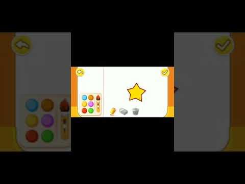 Bé tập vẽ và tô màu đơn giản bằng game gấu trúc cute