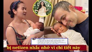Võ Hạ Trâm lần đầu lộ diện sau 3 tuần sinh ái nữ đầu lòng, ai dè bị netizen nhắc nhở vì chi tiết