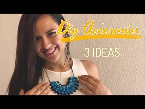 Crea accesorios faciles //  DIY 3 ideas
