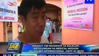 Mahigit 700 residente sa Bulacan, natulungan sa medical mission ng Rotary, UNTV at MCGI