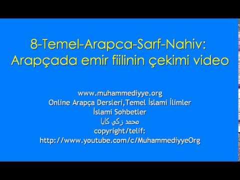 8 Temel Arapca Sarf Nahiv Arapçada emir fiilinin çekimi video