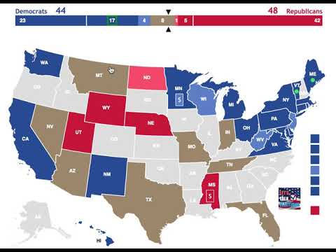 The 2018 Senate Elections as of October 27th, 2018