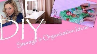 Организация и хранение заколок /Storage & Organization Ideas + DIY