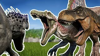 THE MODIFIED BATTLE ROYALE   ALL DINOSAURS!!! - Jurassic World Evolution   HD