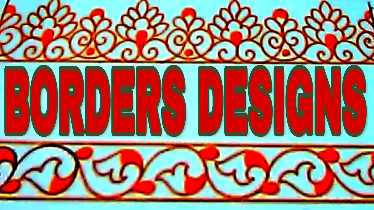 Simple Embroidery Saree Borders Designs Drawings Youtube