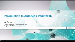 Introduction to the Autodesk Vault 2016