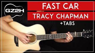 Fast Car Guitar Tutorial Tracy Chapman Guitar Lesson  |Strumming + Fingerpicking + TABs|