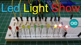 Arduino Uno | 10 LED Light Show |